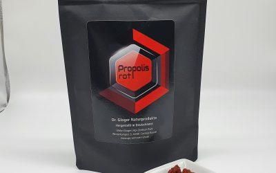 Propolis rot – 100 g Pulver